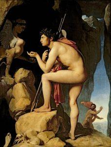 Œdipe explique l'énigme du sphinx