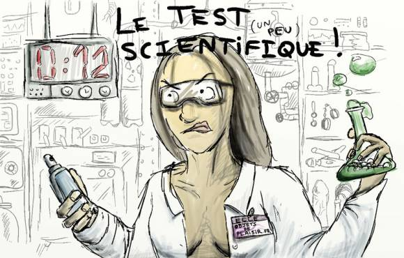 Test scientifique de lubrifiants