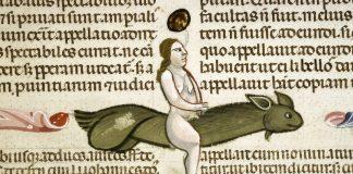 Pénis volant peint dans le Décret de Gratien revu par Bartolomeo da Brescia