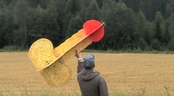 Pénis volant en bois