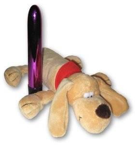 Hide-a-vibe : le chien en peluche range-vibro