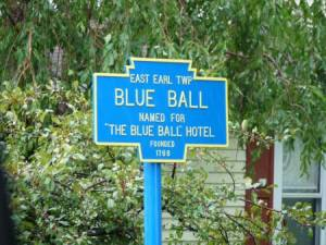 ville de Blue Ball, en Pennsylvanie