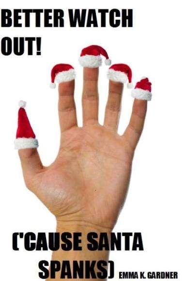 Le père Noël distribue des fessées