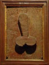 gravure de pénis à Pompeii