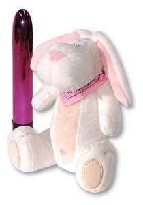 Hide-a-vibe : le lapin en peluche range-vibro