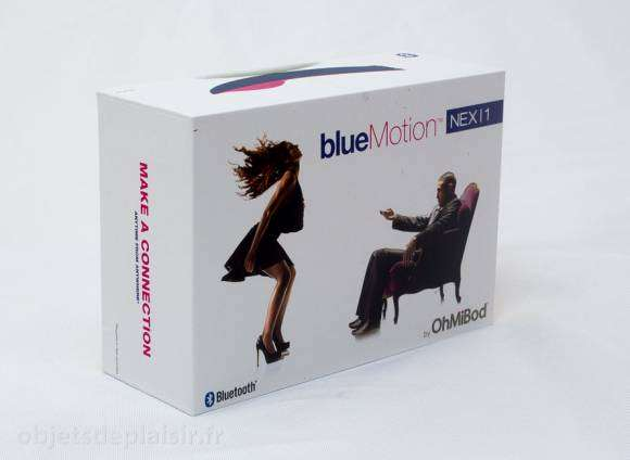 L'emballage du OhMiBod BlueMotion