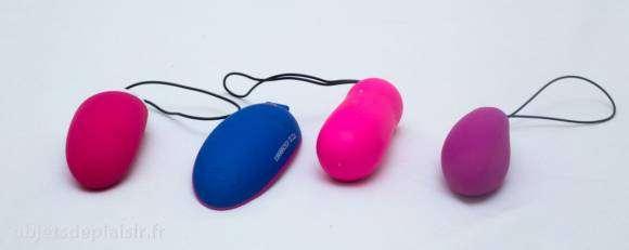 le Smart Mini Vibe de Magic Motion, le OhMiBod blueMotion, le Cry Baby 2 de Love to Love et le Lelo Lyla 2