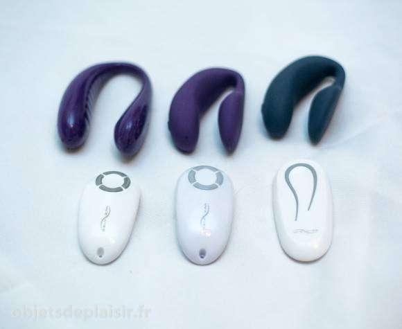 Les We Vibe 3, 4 et 4 Plus avec leurs télécommandes