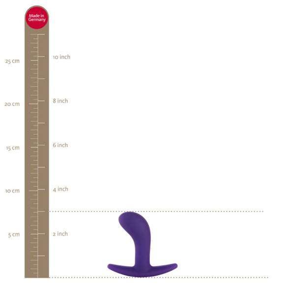 Dimensions du plug Bootie sur l'échelle de Fun Factory