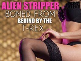 La strip-teaseuse extraterrestre prise par derrière par le T-Rex, livre érotique avec des T-Rex nominé aux Hugo Awards
