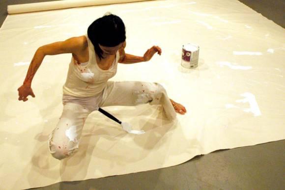 Reproduction de Vagina Painting par Lilibeth Cuenca Rasmussen
