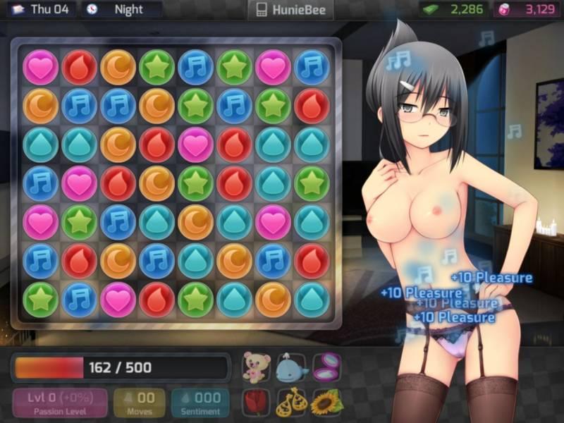 Le sexe dans HuniePop
