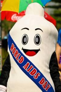 mascotte préservatif