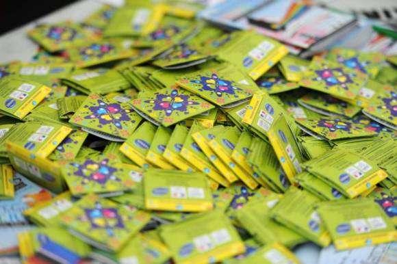 Des préservatifs, distribués dans un stand de prévention contre le VIH et les MST