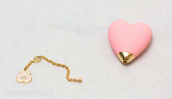 Le vibro cœur Baby Heart, chaînette dévissée