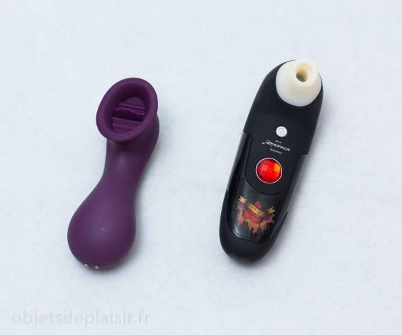 le stimulateur clitoridien Doña de Passage du Désir et le Womanizer W100