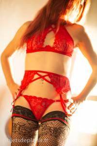 Ensemble de lingerie rouge Lovehoney
