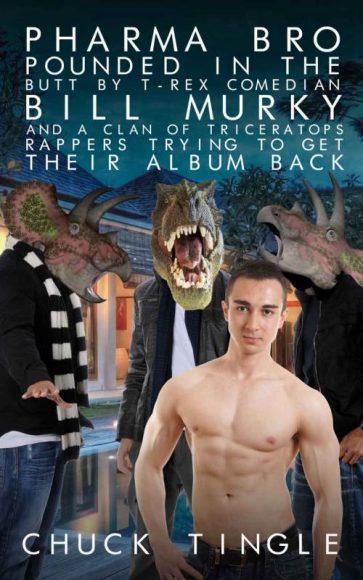 livre érotique de Chuck Tingle avec des dinosaures et un titre à rallonge