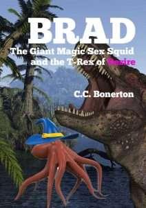 livre érotique avec un T-Rex et un calamar géant