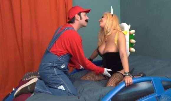 Mario et Bowsette dans la parodie porno de Woodrocket