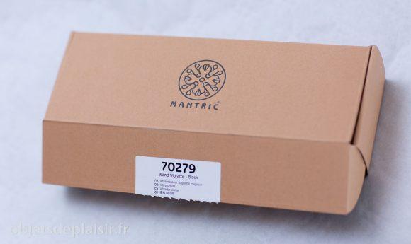 Packaging du vibro baguette magique Mantric