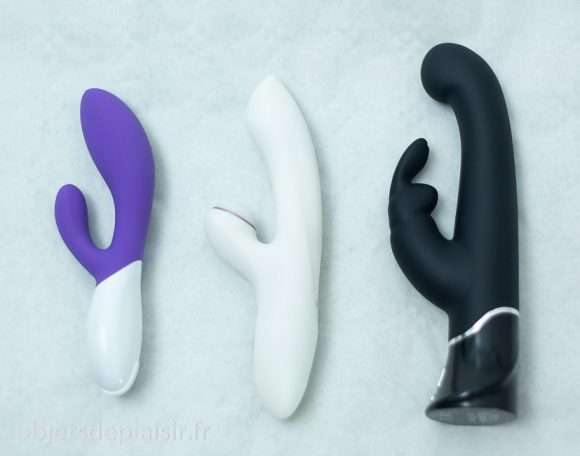 Le Lelo Mona 2, le Satisfyer Pro G-spot Rabbit et le rabbit 50 Shades of Grey