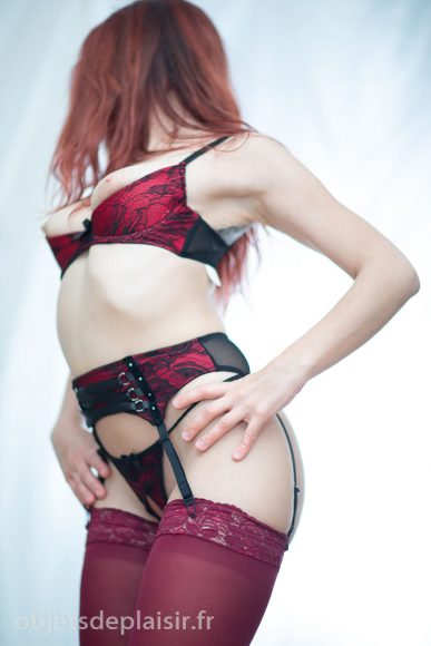 ensemble sexy Demi-Lune rouge Cottelli
