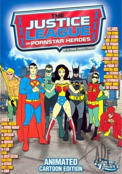 The Justice League of pornstar heroes : animated cartoon edition