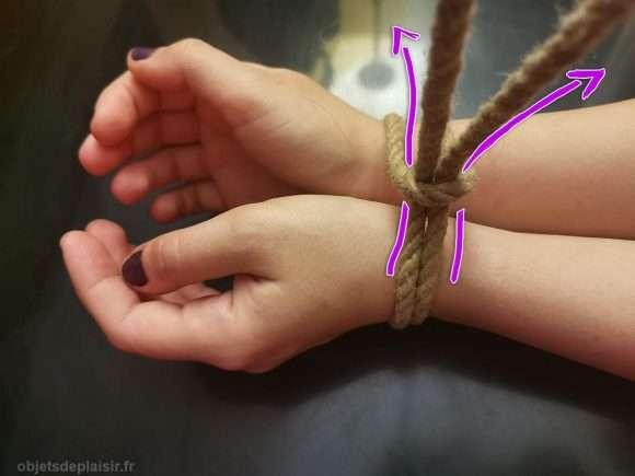 Tutoriel de bondage pour attacher les poignets