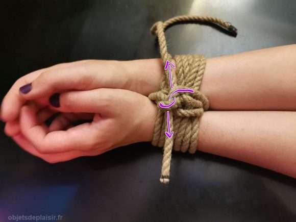 Technique de bondage pour attacher les poignets