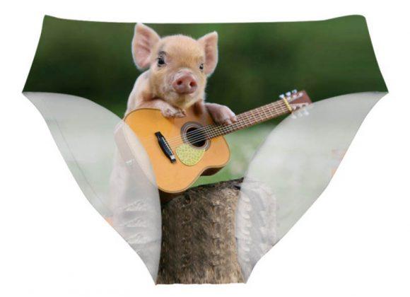 culotte cochon guitariste