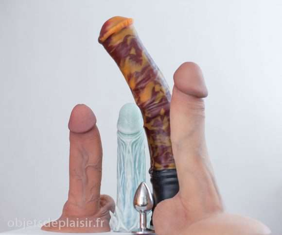 Les RealCock 2 et DTF, le Chance Unflared de Bad Dragon, le Night Kink et un plug anal Rosebuds