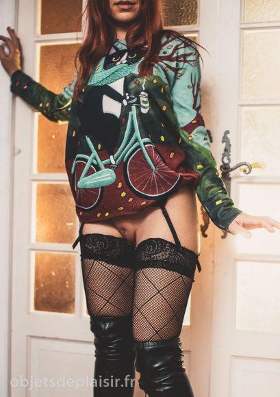 photos sexy - chat cycliste