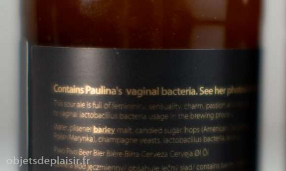 bière aux bactéries vaginales