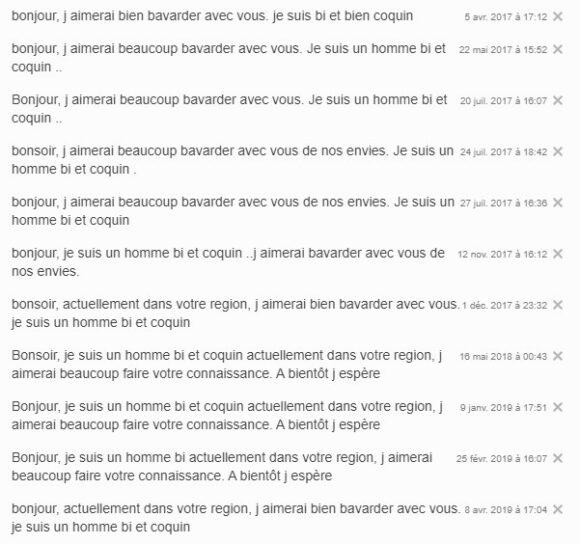 Erreur n°4 sur les sites libertins : abuser du copier-coller