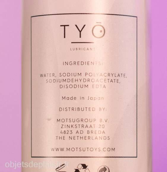 Composition du Tyo Lubricant