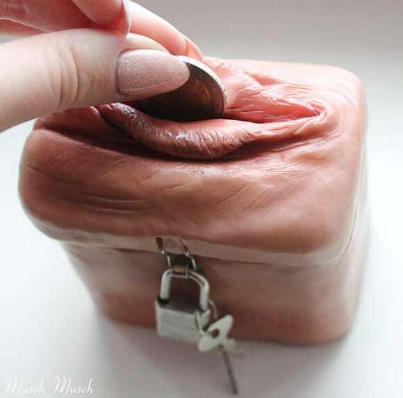porte-monnaie vulve Musch Musch